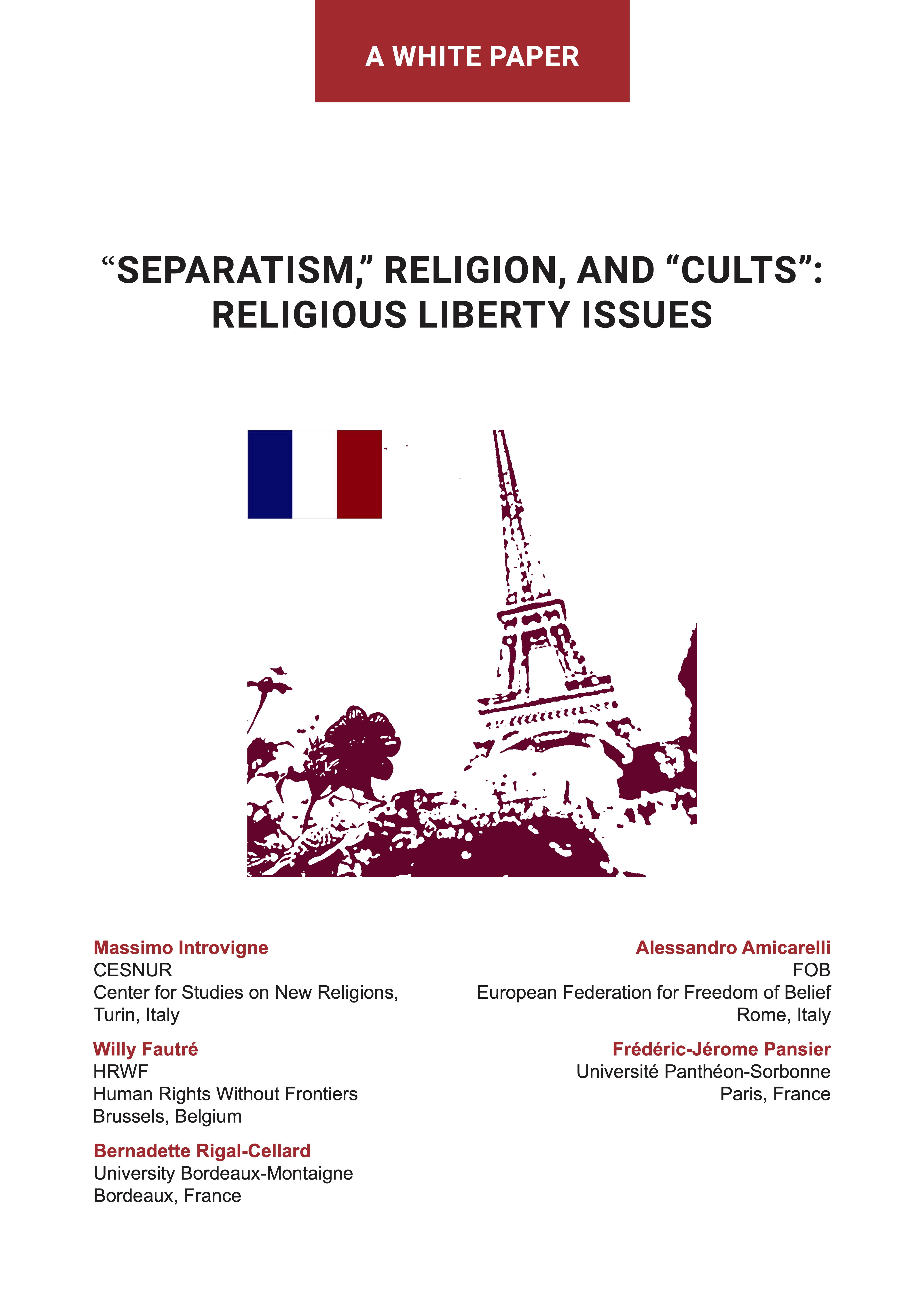 Separatism, Religion, and Cults: Religious Liberty Issues - book cover