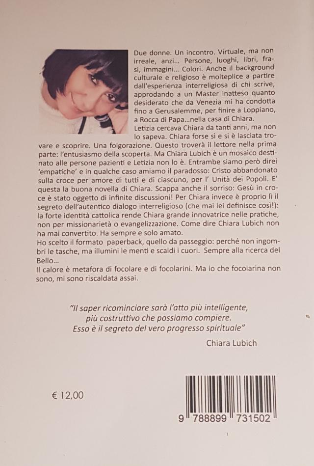 retro copertina libro Estetica e lifestyle: Chiara Lubich nel dialogo interreligioso